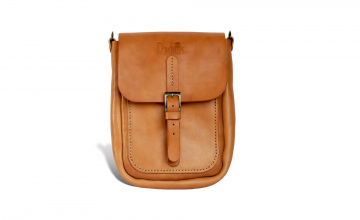 Handcrafted leather mini messenger